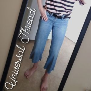 Universal Thread High Rise Wide Leg Crop Jeans